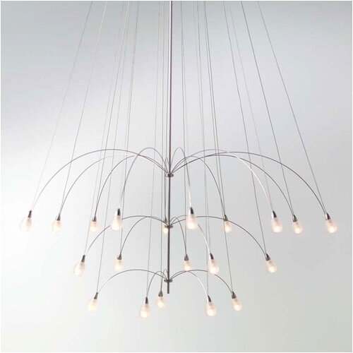 TwiLight Glass Teardrop 20 Light Chandelier