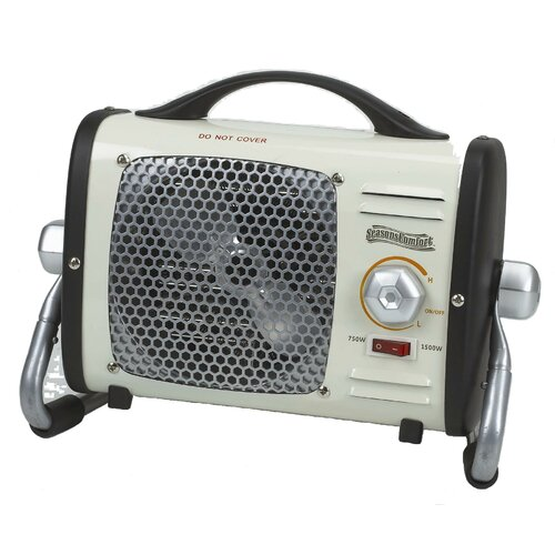 Multi-Purpose Fan Forced Compact Electric Space Heater with Thermostat