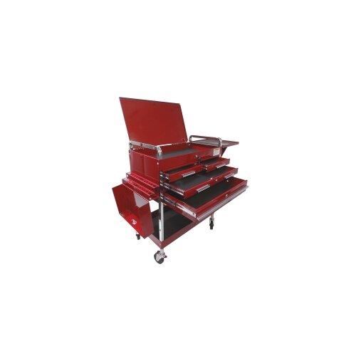 "Sunex Deluxe 35"" Wide 4 Drawer Service Cart"