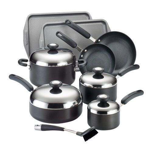 Total Hard Anodized Nonstick 13-Piece Cookware Set