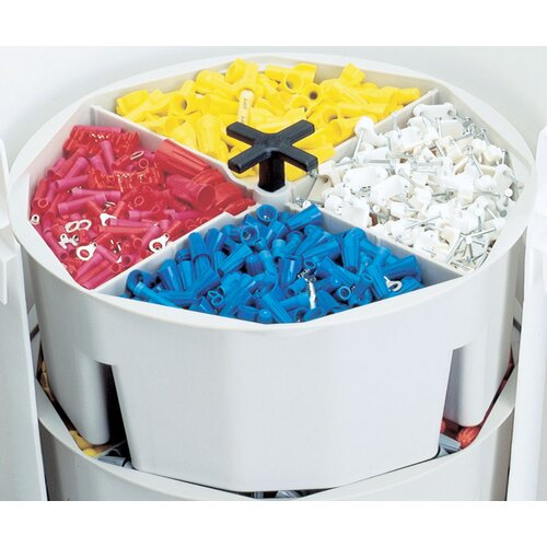"Clc Full-Round 10.5"" Wide Bucket Part Tray"