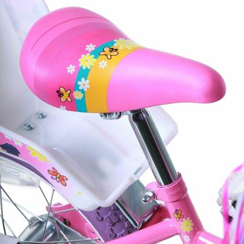 "Titan Girl's 16"" Flower Princess Pink and White BMX Bike with Training Wheels"