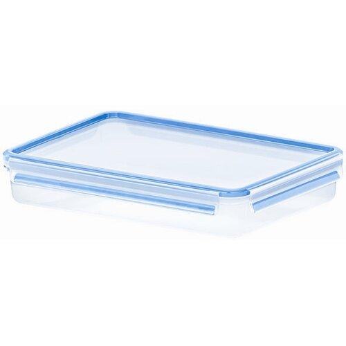 Emsa 3D Food Storage Shallow Rectangular 88 fl oz Clip and Close Container