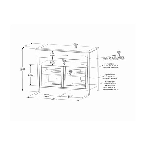 "Wildon Home ® Venet 48"" TV Stand"