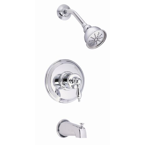 Danze® Prince Single Handle Pressure Balance Diverter Tub and Shower Faucet