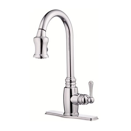 Opulence Single Handle Centerset Pull Down Kitchen Faucet