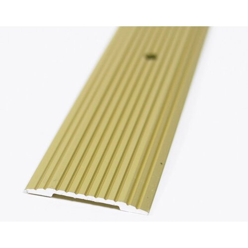 "M-d Products 1.25"" Fluted Seam Binder in Satin Brass"