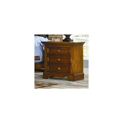 American Woodcrafters Eagles Nest 3 Drawer Nightstand