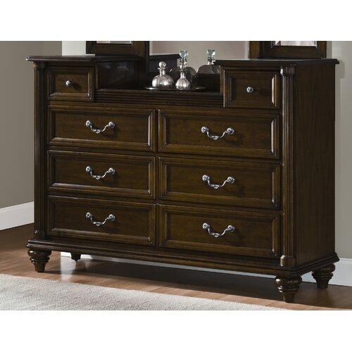 American Woodcrafters Grandeur Triple Dresser