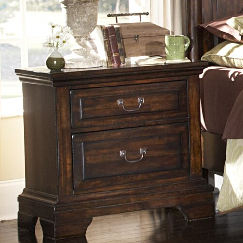 American Woodcrafters Heritage Lodge 2 Drawer Nightstand