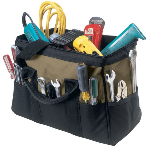 "Custom Leathercraft 16"" Large 22 Pocket BigMouth® Tool Bag"