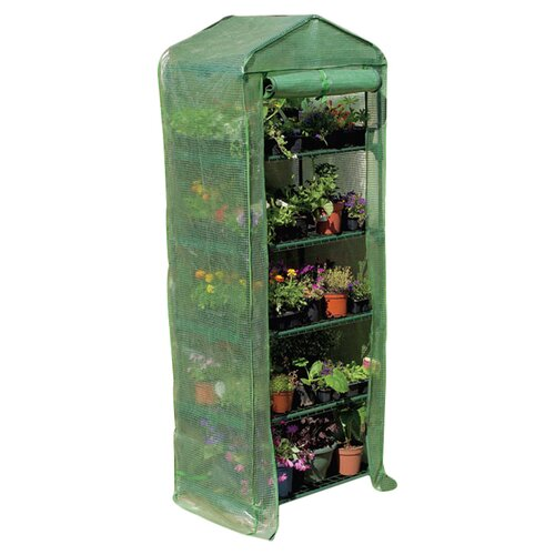 "Gardman USA Grow It 5 Tier 27"" W x 18"" D  PVC Growing Rack Greenhouse"