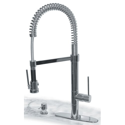 Commercial One Handle Centerset Bar Faucet with Soap Dispenser