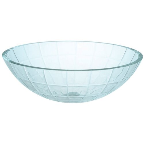 Etched Linear Pattern Vessel Bathroom Sink