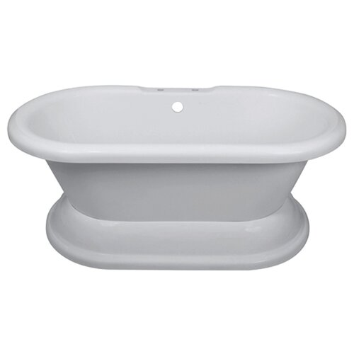 "Elizabethan Classics Dual on Plinth 67"" x 30"" Bathtub"