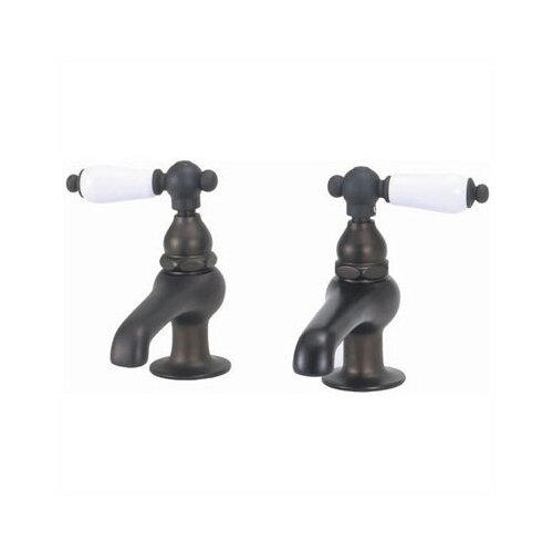 Bathroom Faucet Set with Metal Porcelain Handles