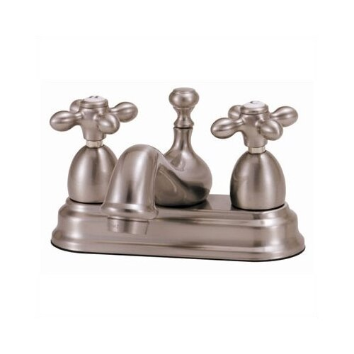 Elizabethan Classics Centerset Bathroom Faucet with Double Metal Cross Handles