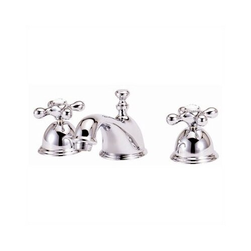 Elizabethan Classics Widespread Bathroom Faucet with Double Metal Cross Handles