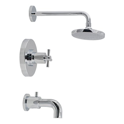 "Belle Foret Ulm 6.75"" Deck Plate Diverter Tub/Shower Faucet Trim"