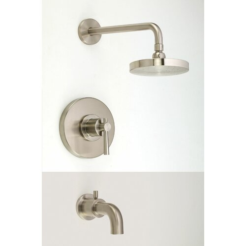 Ashfield Complete Diverter Tub And Shower Faucet Trim With Lever Handle Way