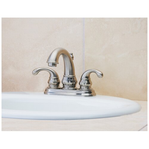 Price Pfister Treviso Centerset Bathroom Faucet with Double Lever Handles