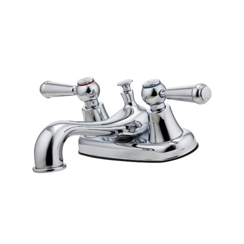 Pfirst Series Centerset Bathroom Faucet with Double Handles