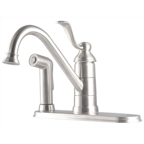 Portland One Handle Centerset Kitchen Faucet with Spray on Deck