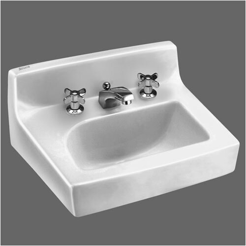 Penlyn Wall Mount Bathroom Sink with Center and Wall Hanger