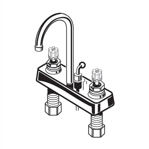 Heritage Two Handles Centerset Kitchen Faucet with Brass Wrist Blade Handles and Grid Drain