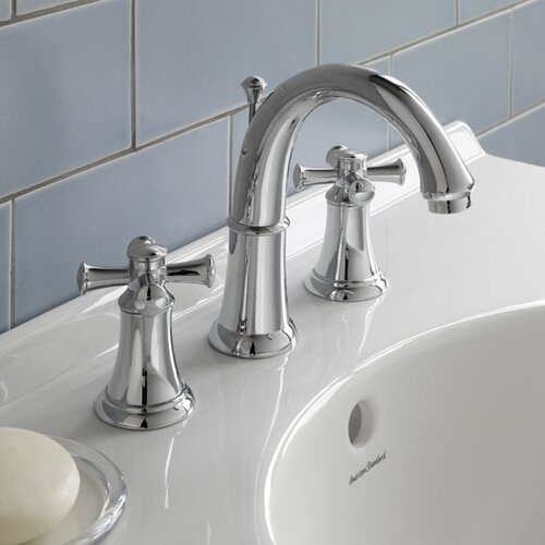 American Standard Portsmouth Widespread Bathroom Faucet with Double Cross Handles
