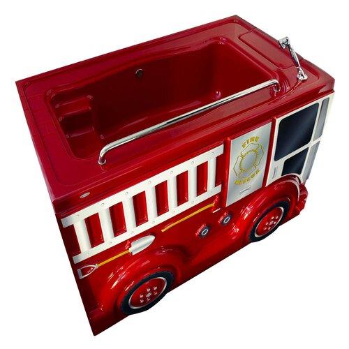 "American Standard 60"" x 35"" Fierce Fire Truck Design Children's FunBath Conversion Kit"