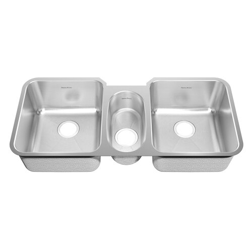 "American Standard Prevoir 44"" x 21.5"" Stainless Steel Undermount Triple Combination Bowl Kitchen Sink"