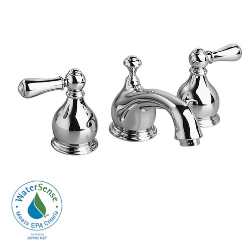 American Standard Hampton Widespread Bathroom Faucet with Double Lever Metal Handles