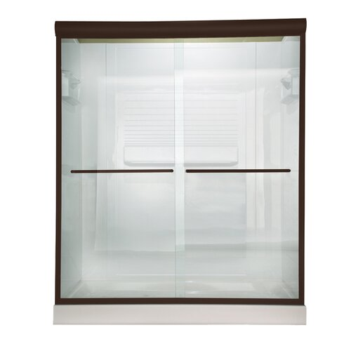 "American Standard Euro 56"" - 60"" Frameless Clear Sliding Shower Door"