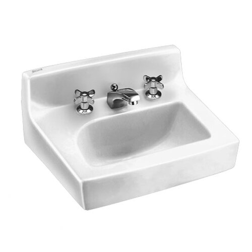 Penlyn Wall Hung Bathroom Sink with Extra Hole for Lotion Dispenser