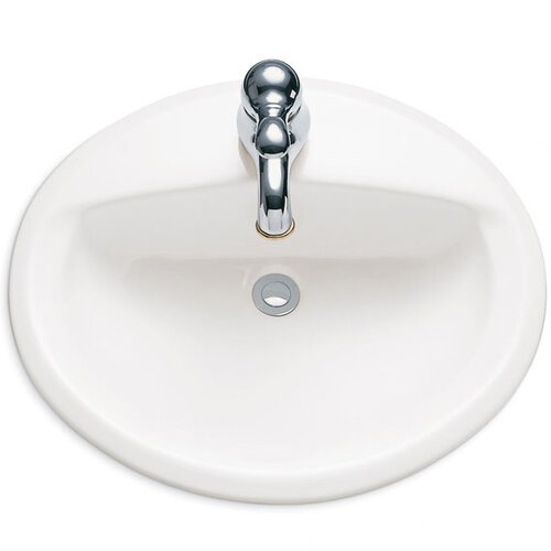American Standard Aqualyn Countertop Bathroom Sink with Center and Extra Left - Hand Hole
