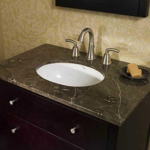 American Standard Ovalyn Undercounter Bathroom Sink with Glazed Underside