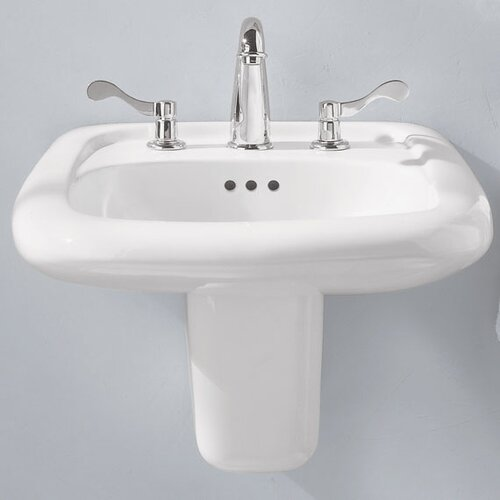 American Standard Murro Wall-Hung Bathroom Sink with Center Hole
