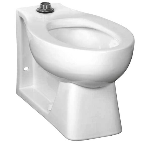 American Standard 1.28 GPF Elongated Neolo Flush Valve Toilet Bowl with Back Spud