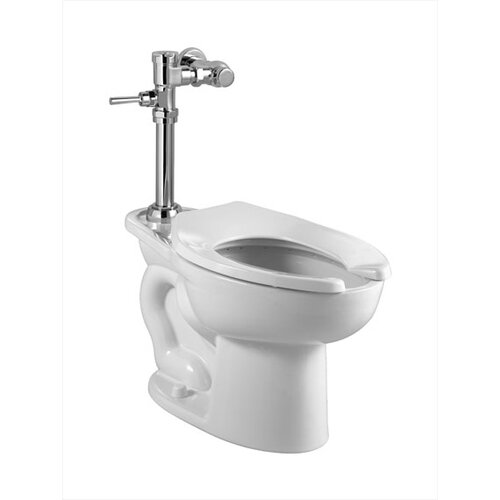 Madera Manual System Flush Valve 1.6 GPF Elongated 1 Piece Toilet with EverClean