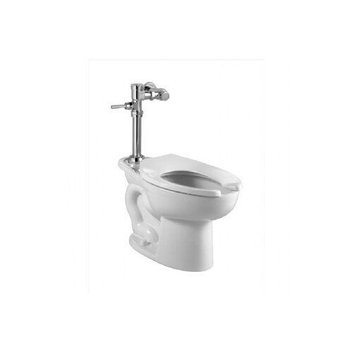 Madera Manual System Flush Valve 1.28 GPF Elongated 1 Piece Toilet with EverClean Elongated
