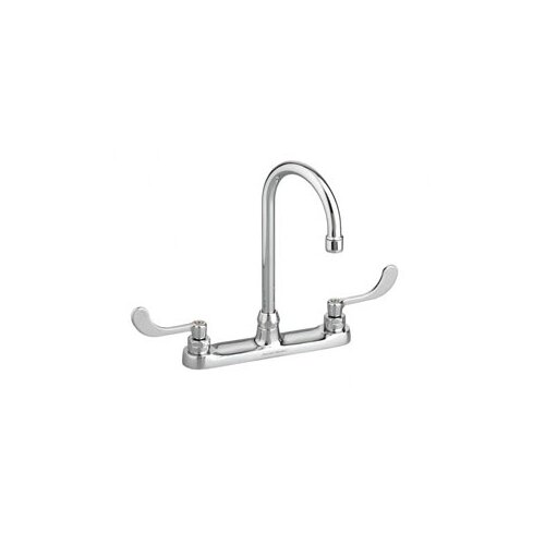 "American Standard Monterrey Top Mount Faucet with 5"" Gooseneck Spout and Vandal-Resistant Wrist Blade Handles"