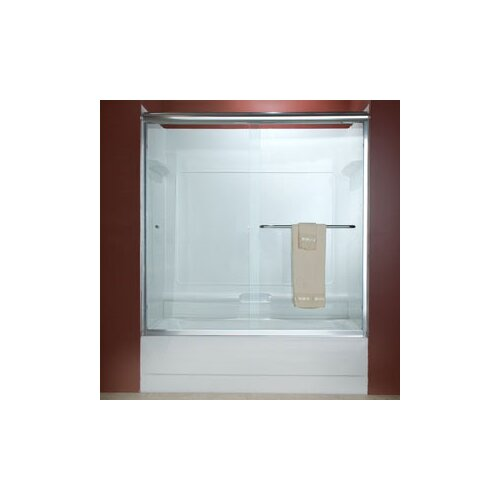 American Standard Euro Frameless Bypass Tub Door with Rain Glass