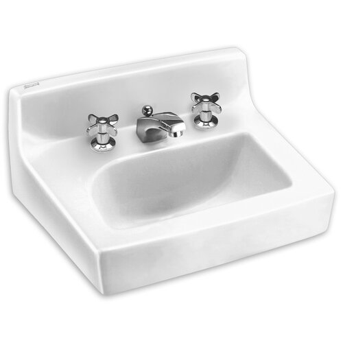 American Standard Penlyn Wall Mount Bathroom Sink with Center
