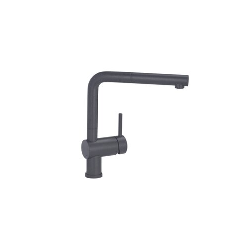Linus Single Handle Single Hole Kitchen Faucet with Pull Out Spray