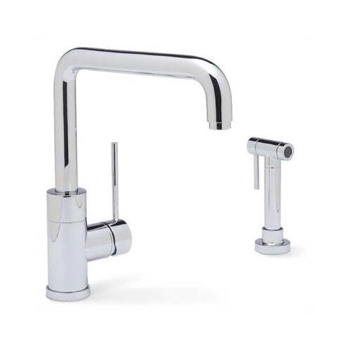 Purus Single Handle Single Hole Kitchen Faucet with Metal Side Spray