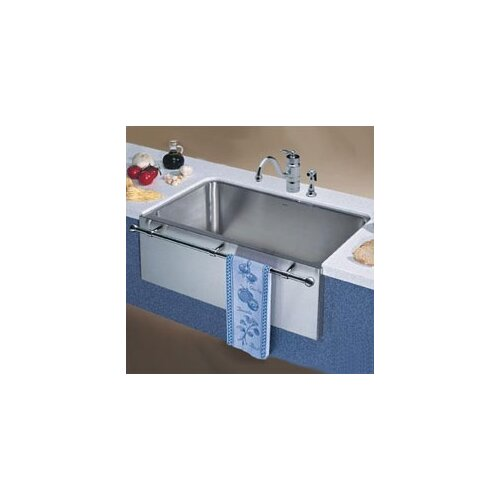 """Blanco Magnum 30"""" x 18.5"""" Large Single Bowl Kitchen Sink with Apron and Towel Bar"""