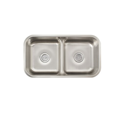 "Schon 19.5"" x 18.5"" Double Bowl Kitchen Sink"