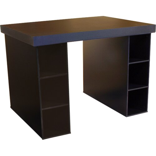 Venture Horizon Project Center Writing Desk with 6 Bin Cabinets