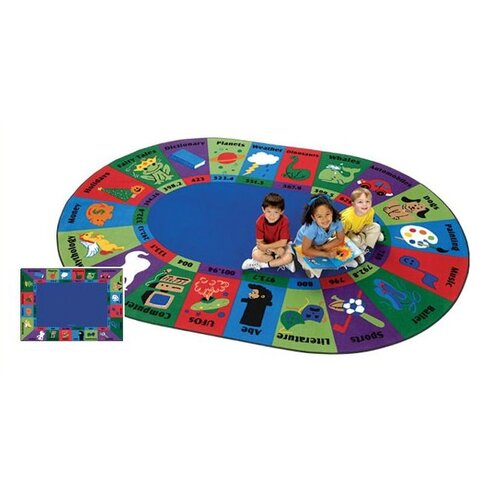 Carpets for Kids Circletime Dewey Decimal Fun Kids Rug